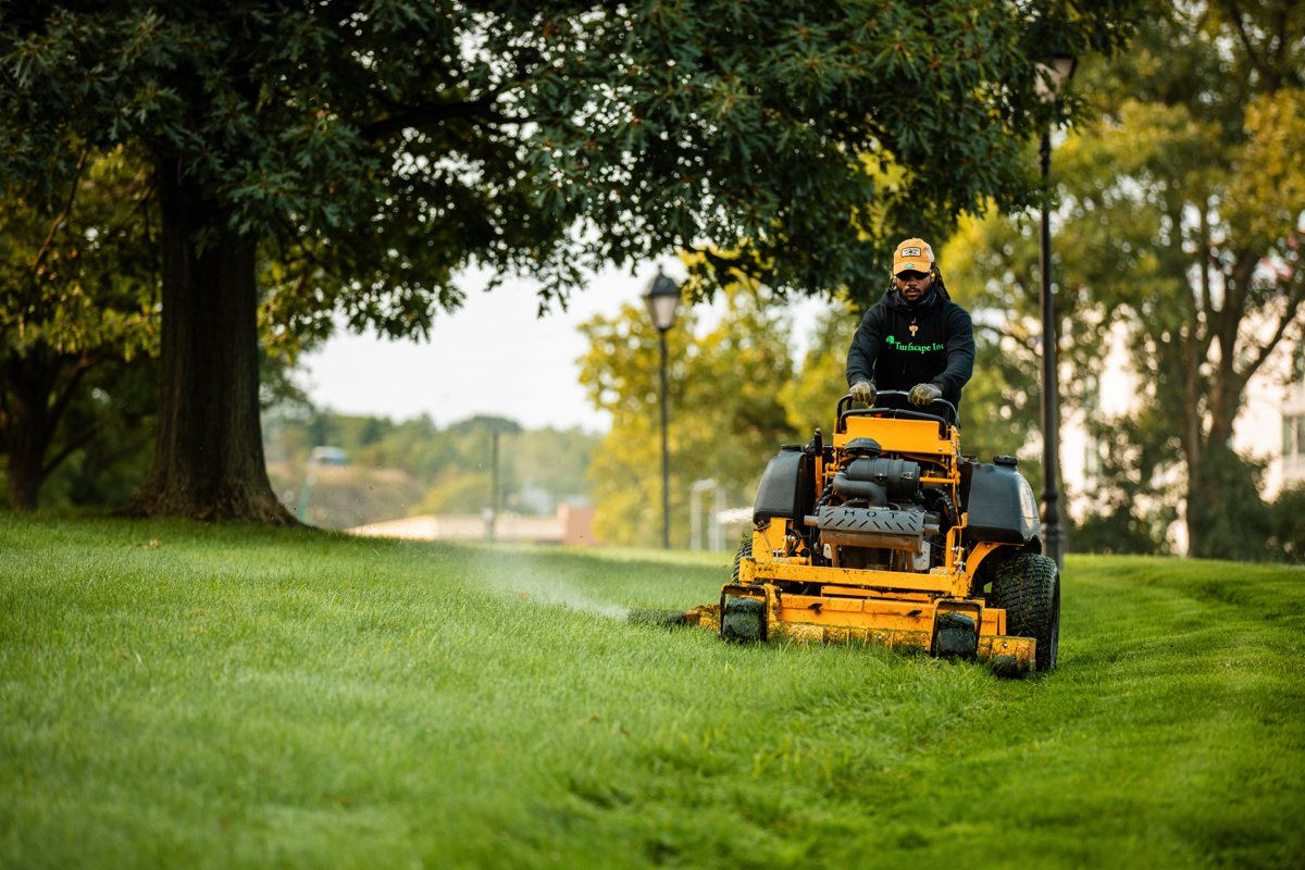 Lawn care maintenance for office buildings