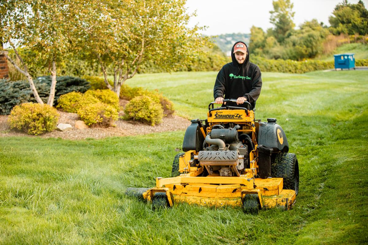 fall property maintenance final mow