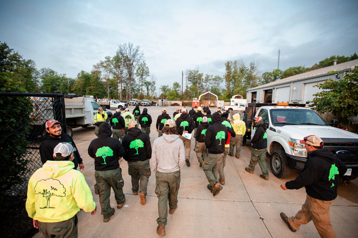 Commercial Landscaping Crew Team Huddle 3