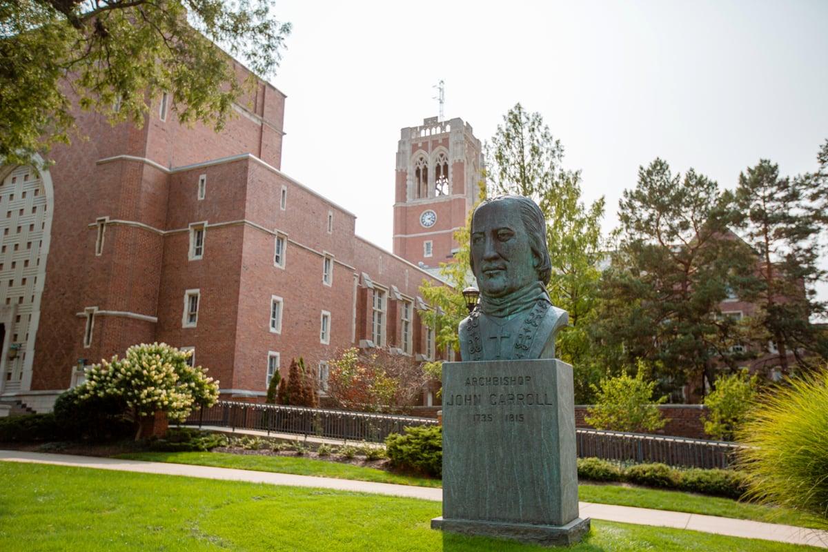 College campus landscape
