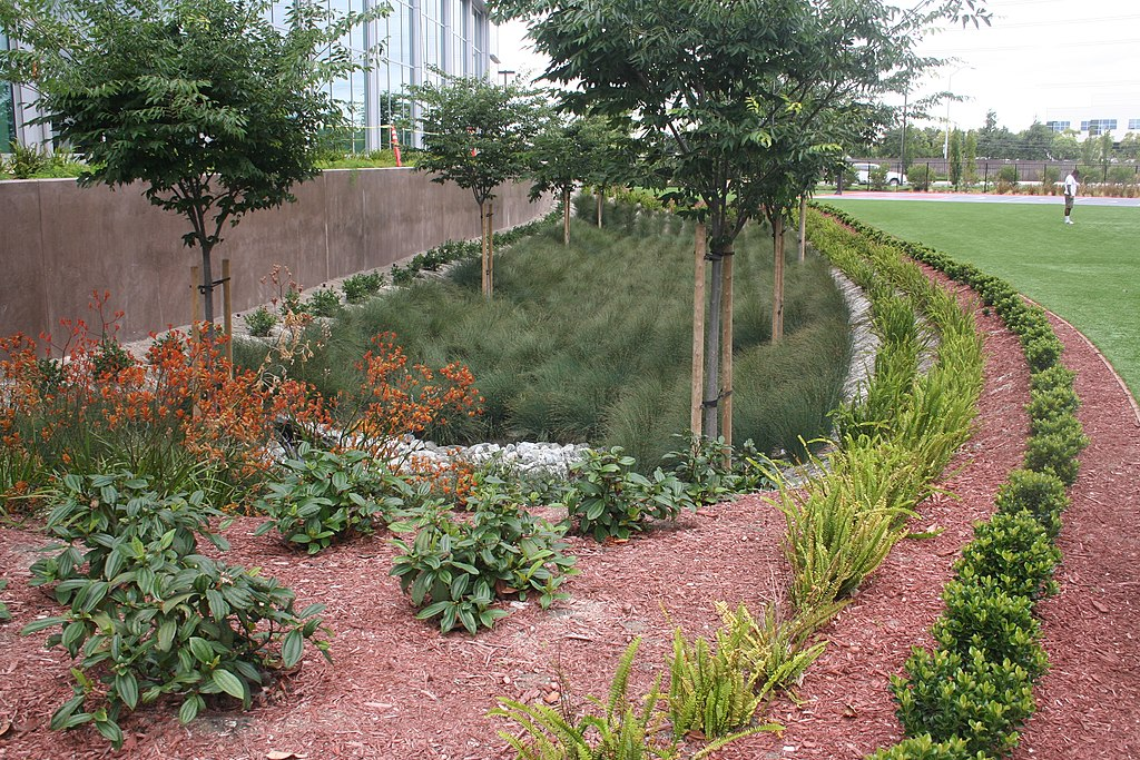 Sustainable bioswale installation