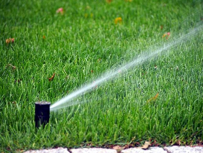 irrigation system head on commercial property
