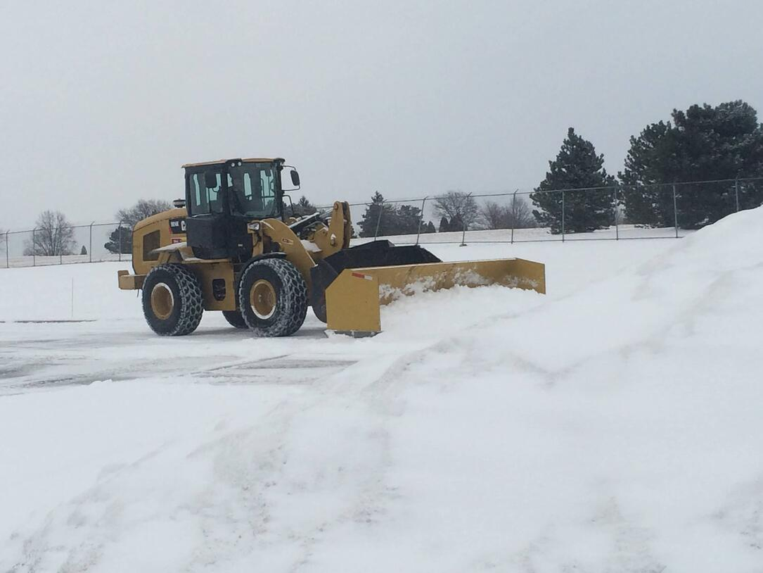 snow removal in parking lot