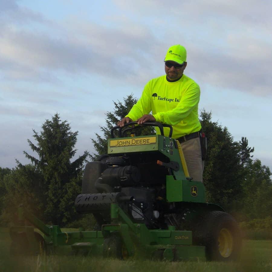 commercial grounds maintenance standup mower