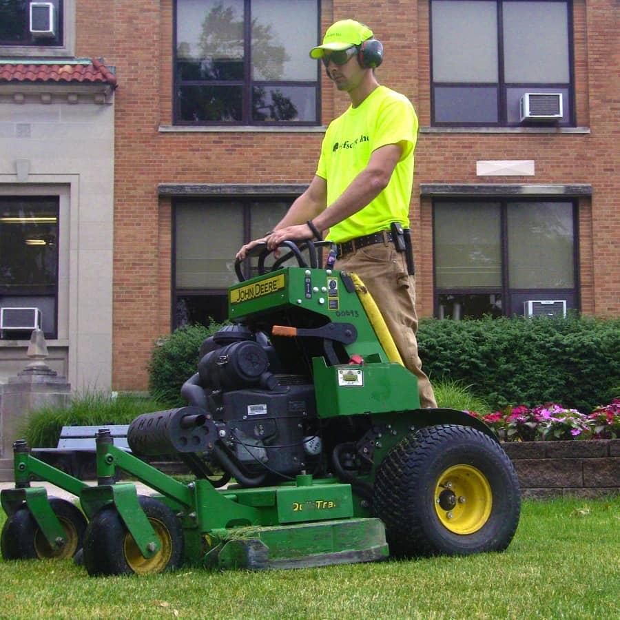 commercial grounds maintenance condo mower