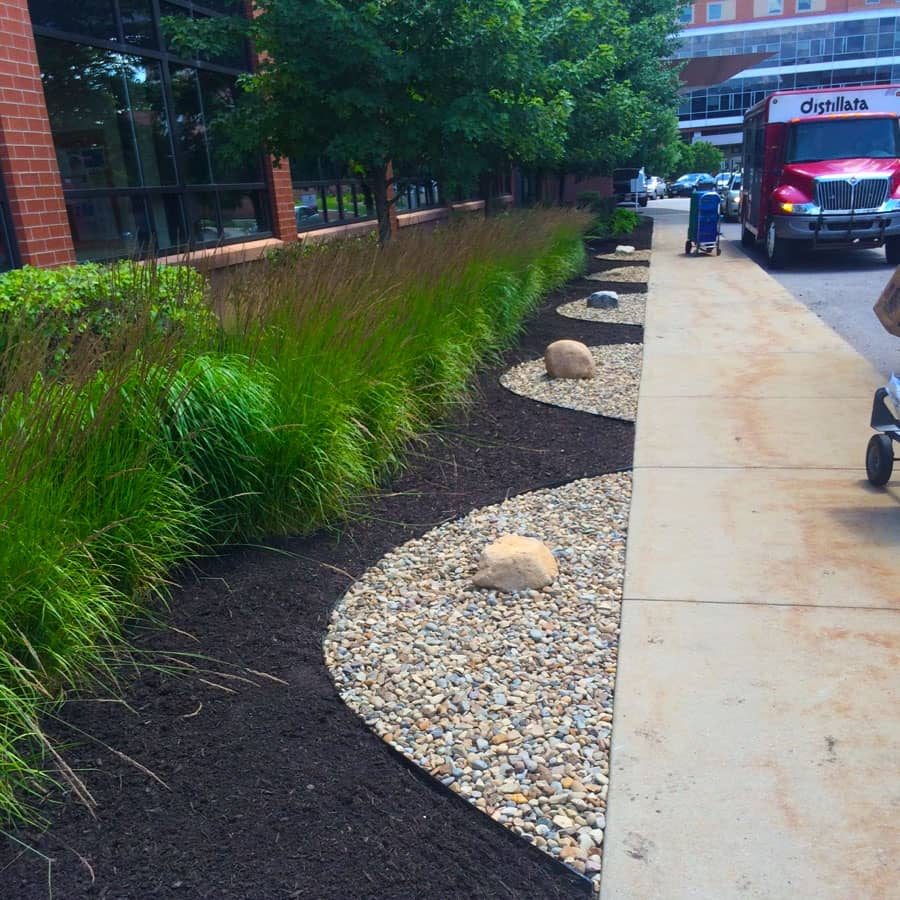 commercial landscaping walkway