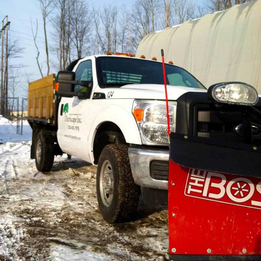 commercial snowplowing truck
