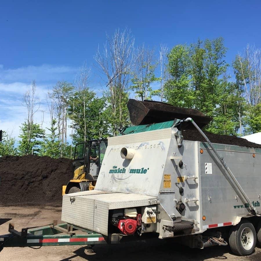 commercial grounds maintenance mulch mule