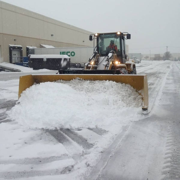 commercial snow removal - plow