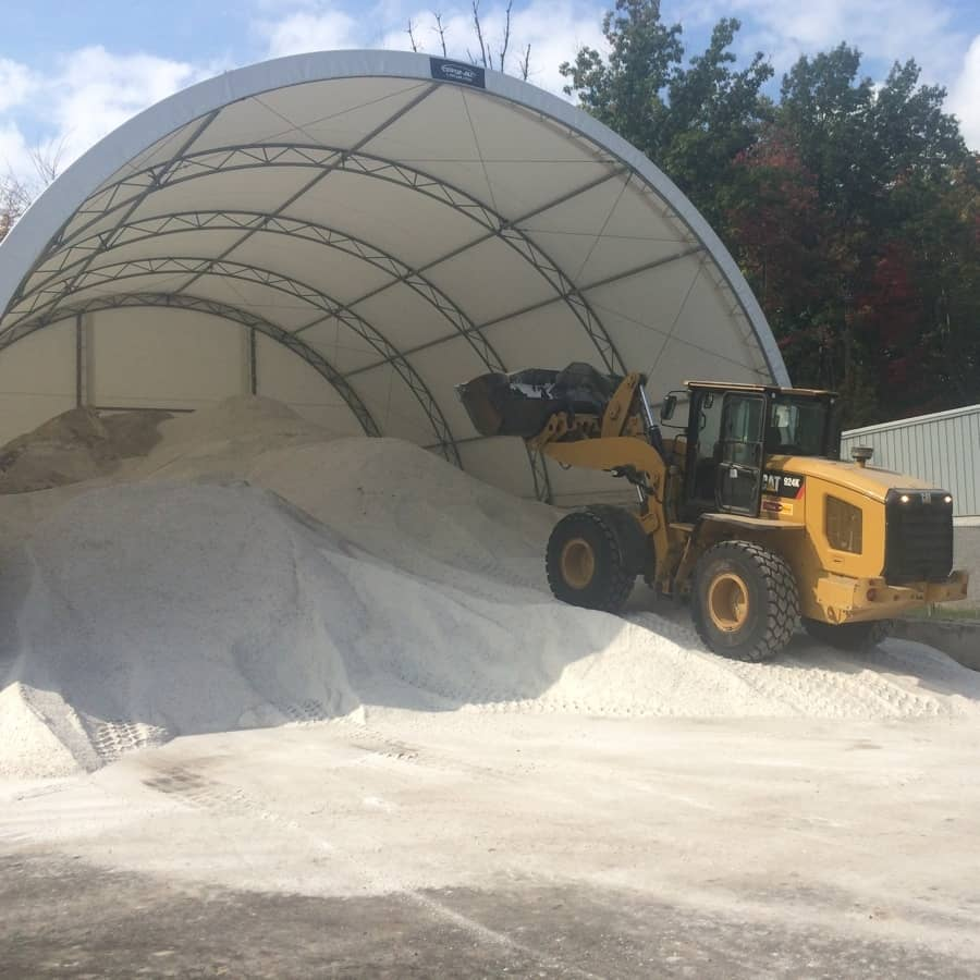 commercial snow removal services - salt pile