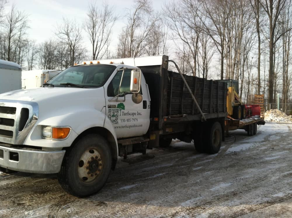 commercial snow plowing services